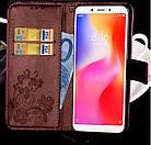 Чохол книжка Clover для Xiaomi Redmi 6A Коричневий, фото 2