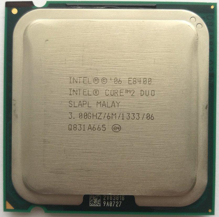 Процессор Intel Core 2 Duo E8400 C0 SLAPL 3.00 GHz 6 MB Cache 1333 MHz FSB Socket 775 Б/У