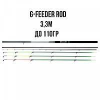 Фидер Bratfishing G-Feeder Rods 3,30 м до 110г
