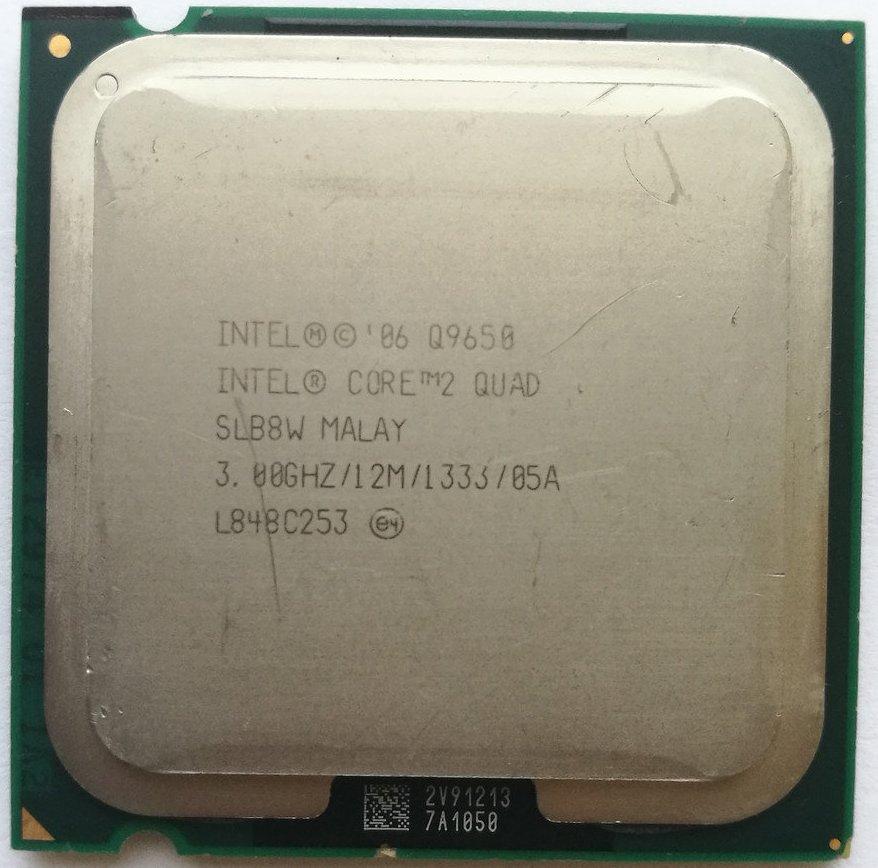 Процессор Intel Core 2 Quad Q9650 E0 SLB8W 3.0GHz 12M Cache 1333 MHz FSB Socket 775 Б/У