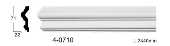 Молдинг для стен, гладкий, Classic Home 4-0710, лепной декор из полиуретана