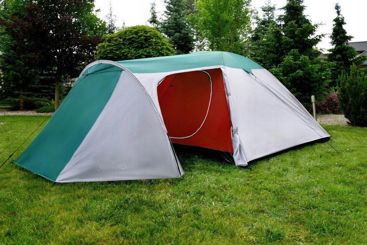 Палатка, четырех, 4, местная, coleman, двухслойная, с тамбуром, туристическая