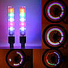 Підсвічування 2шт LED на ніпель велосипедних коліс різнокольорові SKU0000172