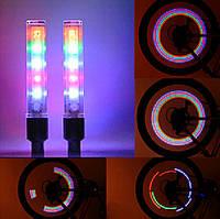 Подсветки 2шт  LED на нипель велосипедных колес разноцветные SKU0000172