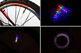 Підсвічування 2шт LED на ніпель велосипедних коліс різнокольорові SKU0000172, фото 2