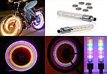 Підсвічування 2шт LED на ніпель велосипедних коліс різнокольорові SKU0000172, фото 5