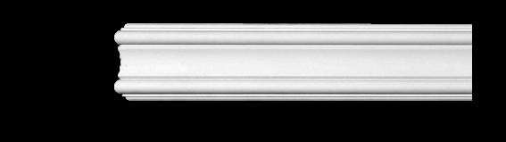 Молдинг для стен, гладкий, Classic Home 4-0802, лепной декор из полиуретана