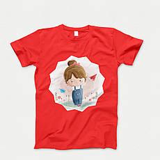 Детская футболка с принтом. Cute Girl. Хлопок 100%. Размеры от 3 до 12 лет