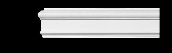 Молдинг для стен, гладкий, Classic Home 4-0920, лепной декор из полиуретана