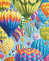 """Картина по номерам """"Цветные воздушные шары"""" 40*50см, фото 1"""