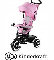 Трехколесный велосипед ASTON Kinderkraft с функцией коляски (розовый цвет)