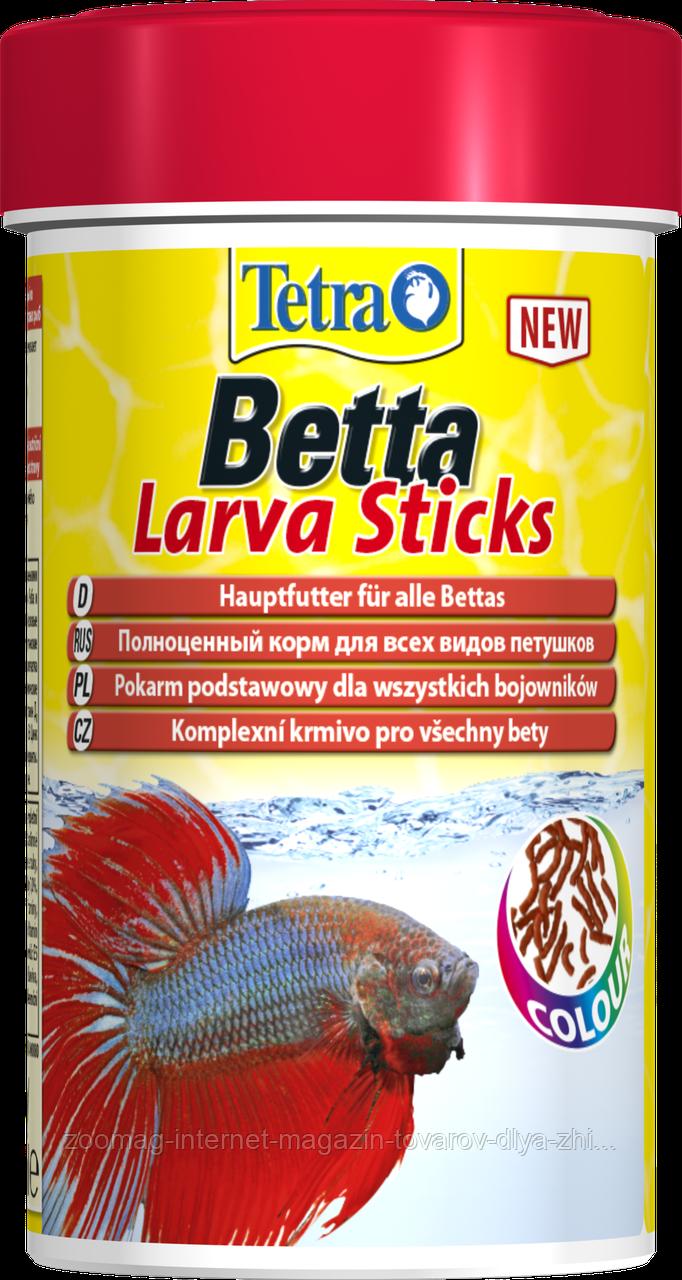 """Корм для петушков и других лабиринтовых рыб """"Betta LarvaSticks"""" (100мл.), Tetra™"""