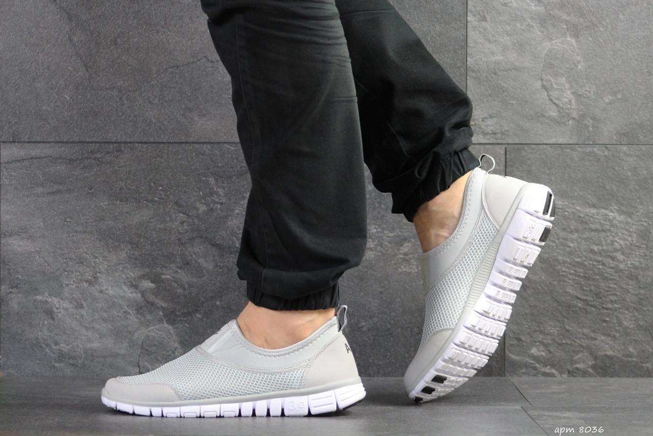 Мужские кроссовки Nike Free Run 3.0 ( светло-серые )