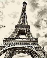 Картина по номерам Эйфелева башня 40x50 см. Mariposa