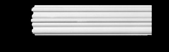 Молдинг для стен, гладкий, Classic Home 4-0970, лепной декор из полиуретана