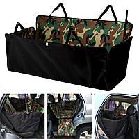Автогамак, автомобильный чехол с бортами,для перевозки собак в машине на задние сиденья. DOX Standart Камуфляж