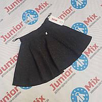 Детская школьная  юбка черного  цвета для девочек оптом ASJO