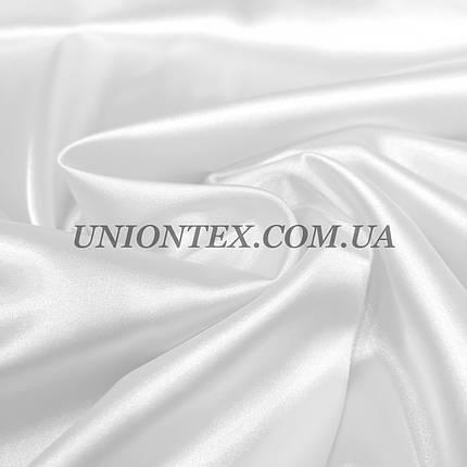 Ткань атлас стрейч белый, фото 2