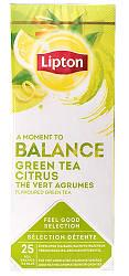 Зеленый чай пакетированный Lipton Green Tea Citrus (Зеленый с Цитрусовыми) 25 шт