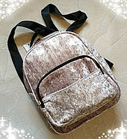Красивый женский рюкзак отличного качества, велюр с серебристым напылением,ЧИТАЙТЕ ОПИСАНИЕ ТОВАРА!