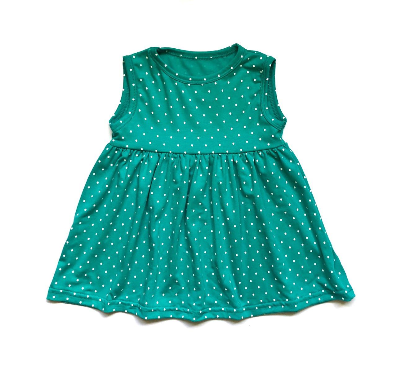 Детское платье мятное в горошек Andriana Kids