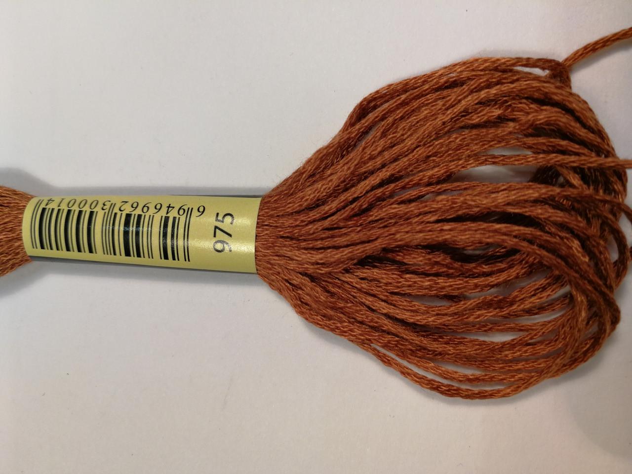 Мулине СХС 975 золотистый коричневый темный