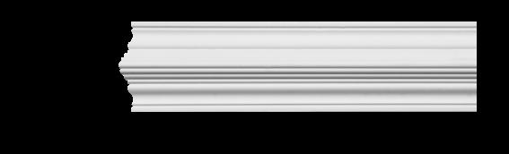 Молдинг для стен, гладкий, Classic Home 4-0980, лепной декор из полиуретана