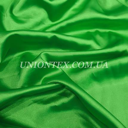 Ткань атлас стрейч зеленый, фото 2