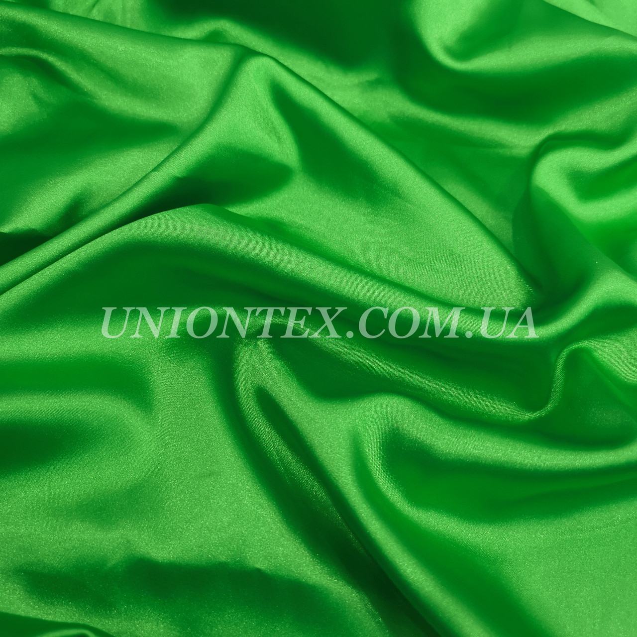 Ткань атлас стрейч зеленый