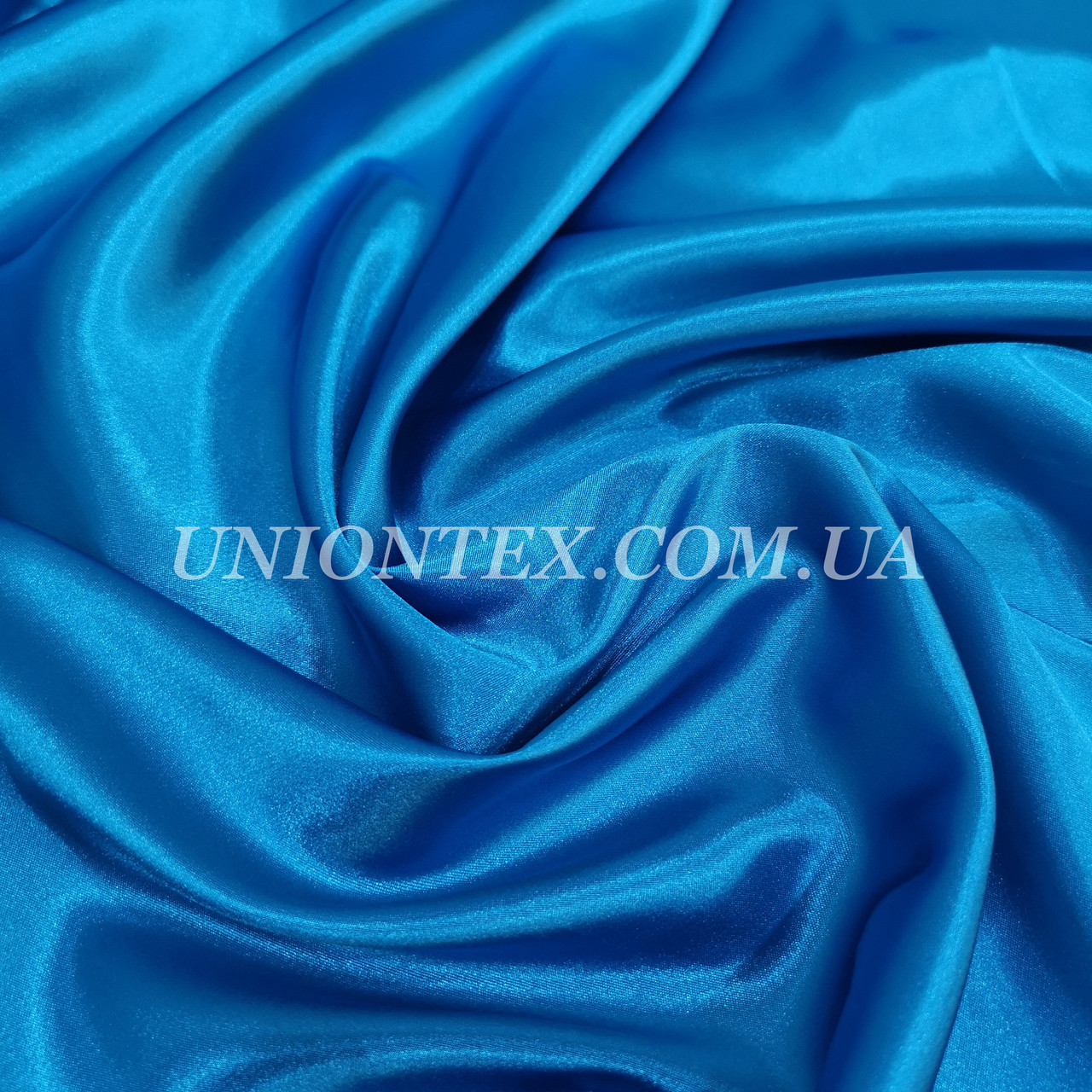 Ткань атлас стрейч голубая бирюза