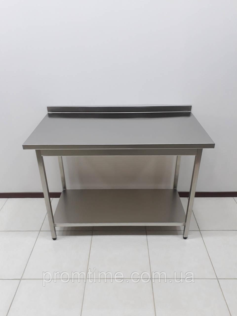 Стол производственный из нержавеющей стали 1000х600х850