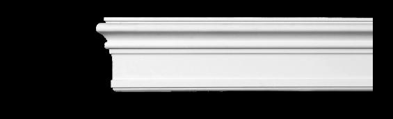 Молдинг для стен, гладкий, Classic Home 4-1250, лепной декор из полиуретана