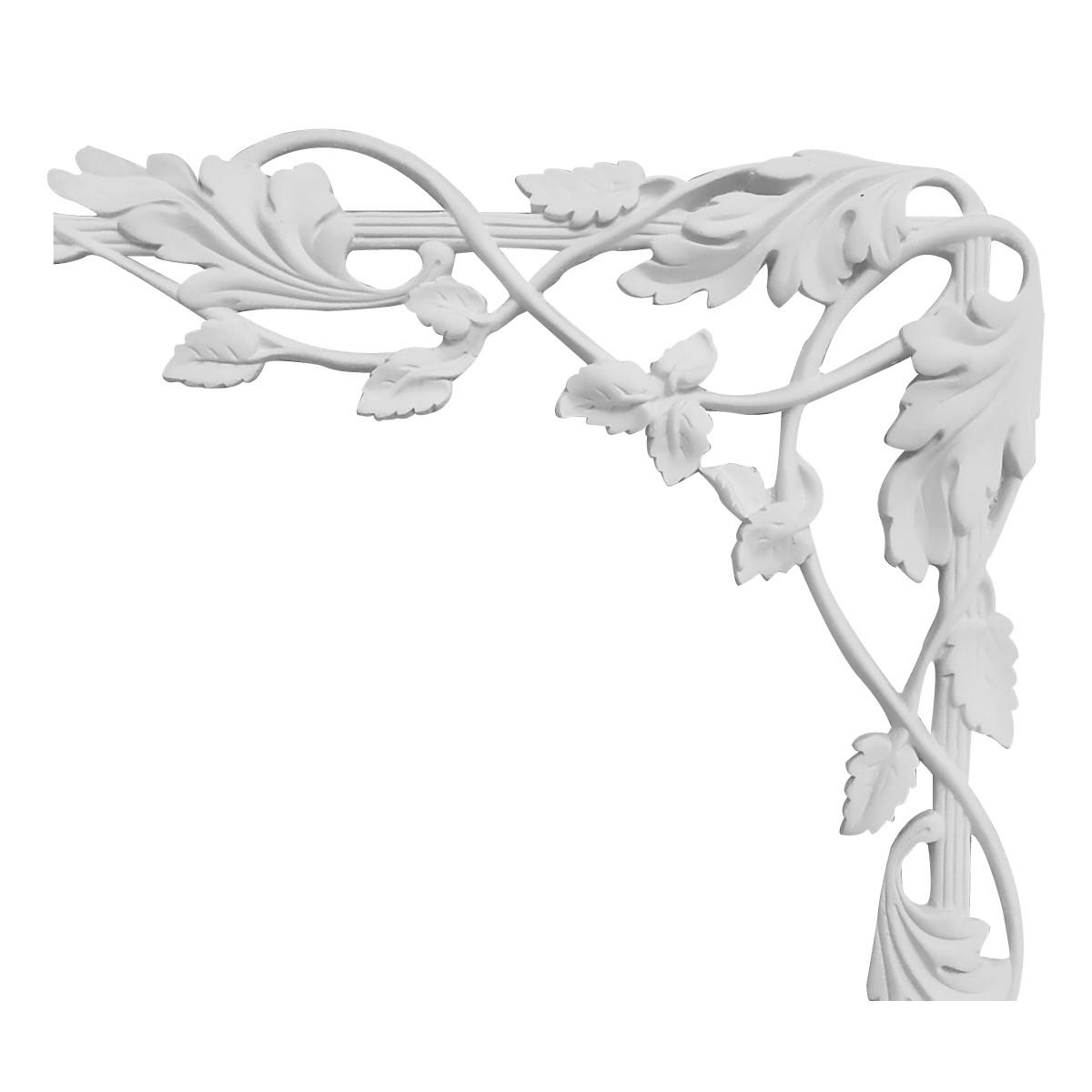 Гипсовая лепнина декоративный угол у-69 h380х390мм