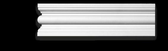 Молдинг для стен, гладкий, Classic Home 4-1260, лепной декор из полиуретана