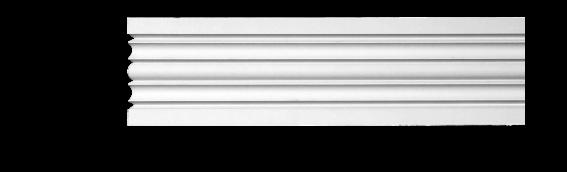 Молдинг для стен, гладкий, Classic Home 4-1280, лепной декор из полиуретана
