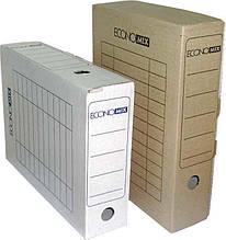 Короб архівний Economix 32701-07, картонний, 80 мм, коричневий