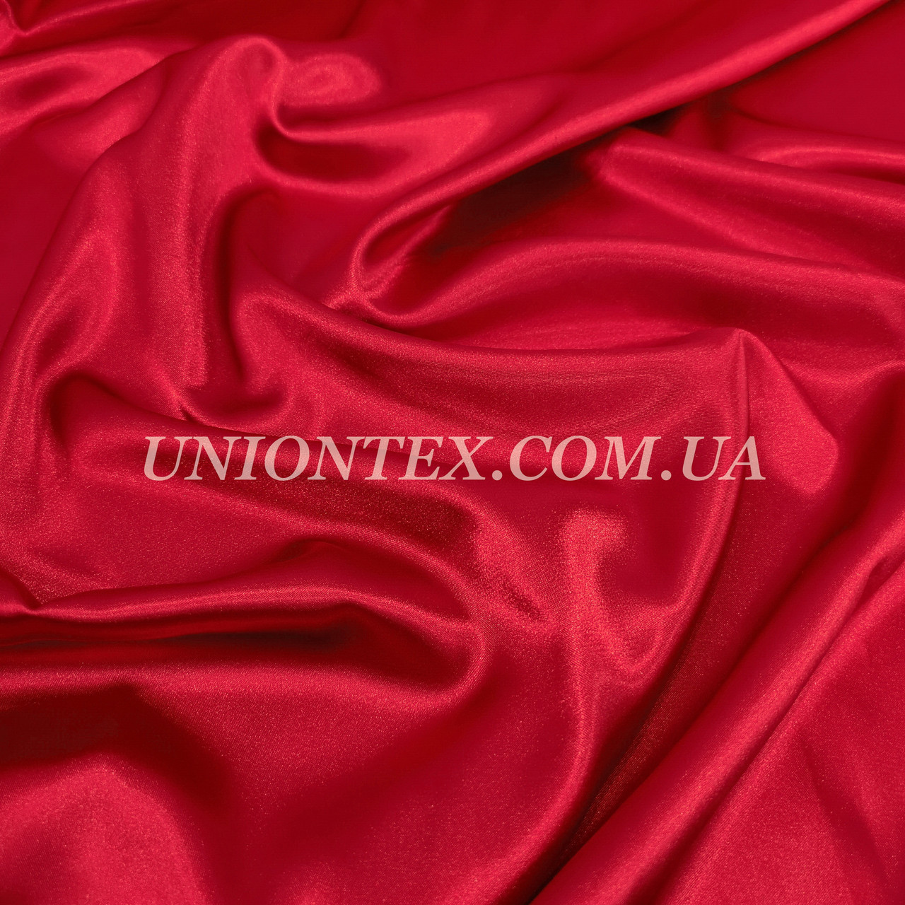 Ткань атлас стрейч красный