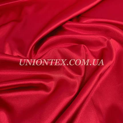 Ткань атлас стрейч красный, фото 2