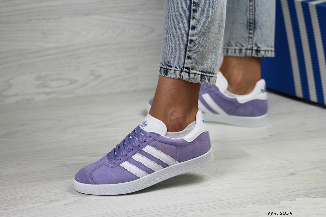 Женские кроссовки Adidas Gazelle (фиолетовые)