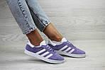 Женские кроссовки Adidas Gazelle (фиолетовые), фото 2