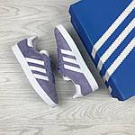 Женские кроссовки Adidas Gazelle (фиолетовые), фото 3