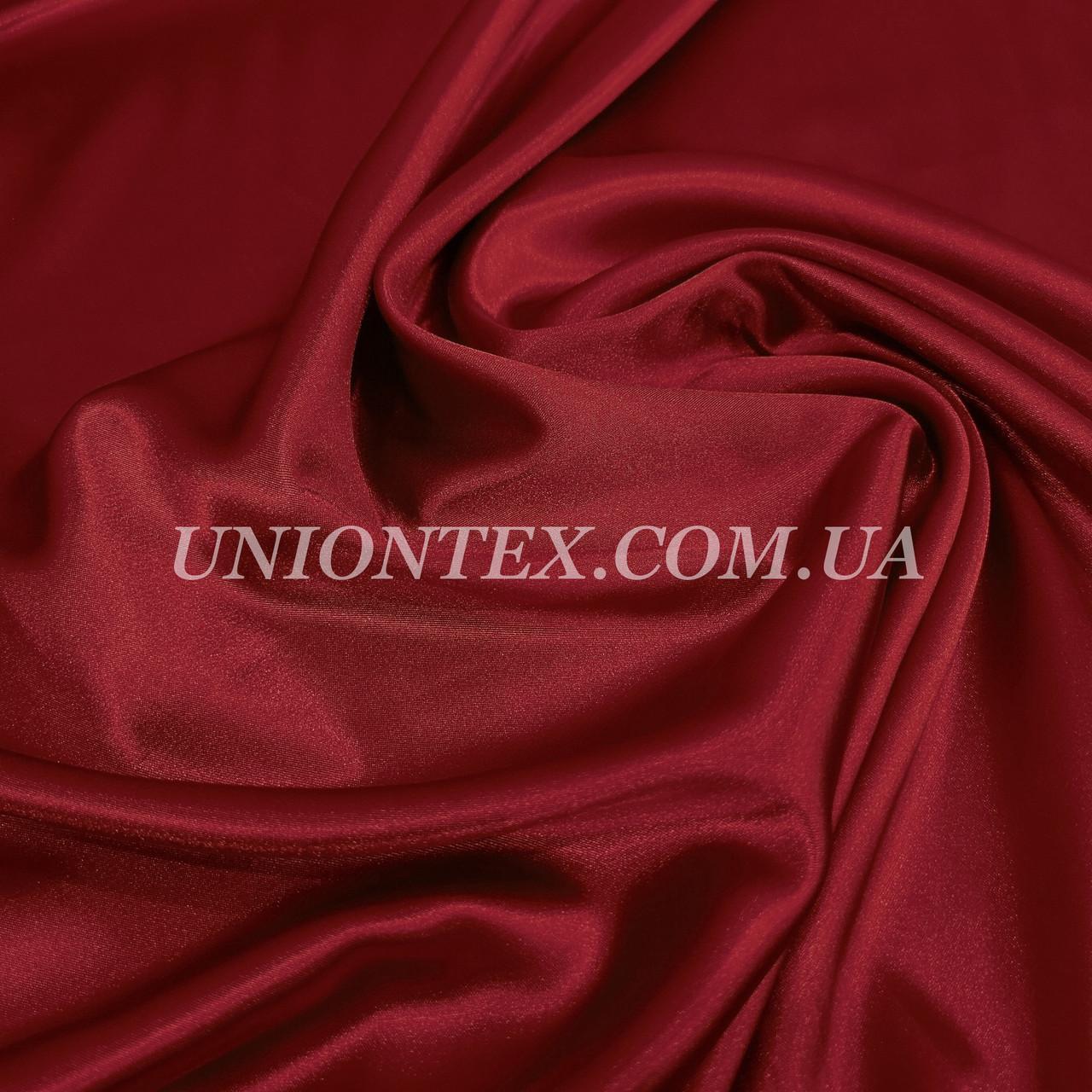 Ткань атлас стрейч бордовый
