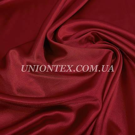 Ткань атлас стрейч бордовый, фото 2
