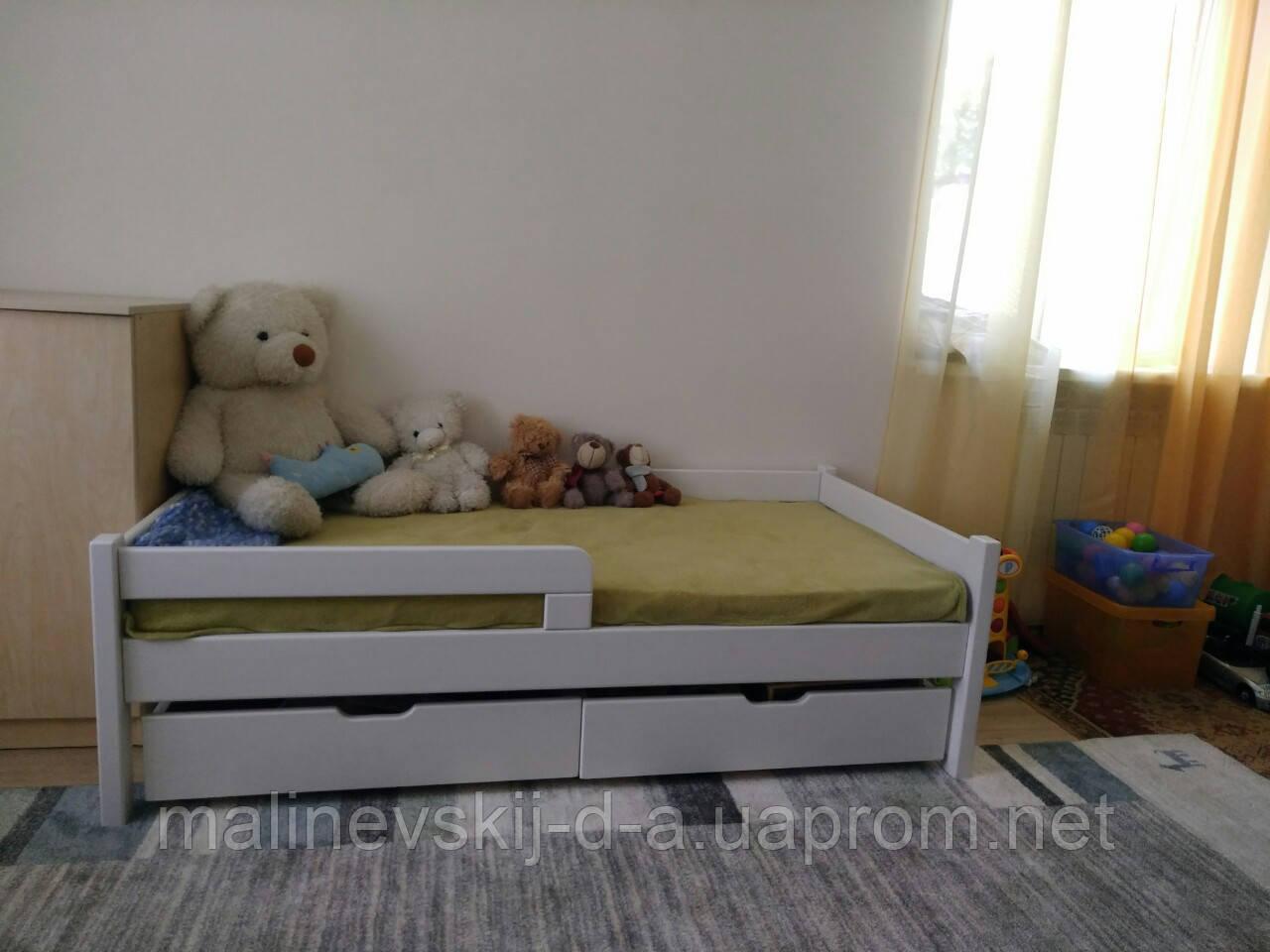 Ліжко дерев'яне  80*160  Нотка