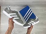 Женские кроссовки Adidas Gazelle (серо-белые), фото 3