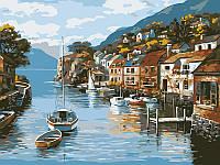 Картина по номерам Прибрежный город (BK-EX5237) 30 х 40 см  [Без коробки]