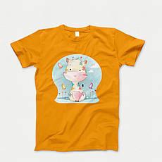 Детская футболка с принтом. Giraffe Babi. Хлопок 100%. Размеры от 3 до 12 лет