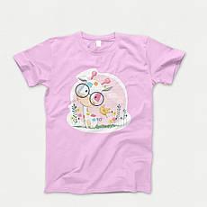 Детская футболка с принтом. Giraffe Glas Babi. Хлопок 100%. Размеры от 3 до 12 лет