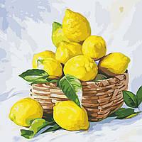 """Картина по номерам """"Лимоны"""" 40*40см"""