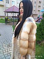 Шикарная шуба из лисы 54 размера, шуба из лисы батал, купить шубу из лисы большого размера